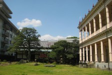 15 旧岩崎邸庭園_和館(左)と洋館(右)