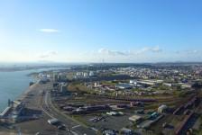 03 ポートタワーセリオンからの眺望(秋田港)