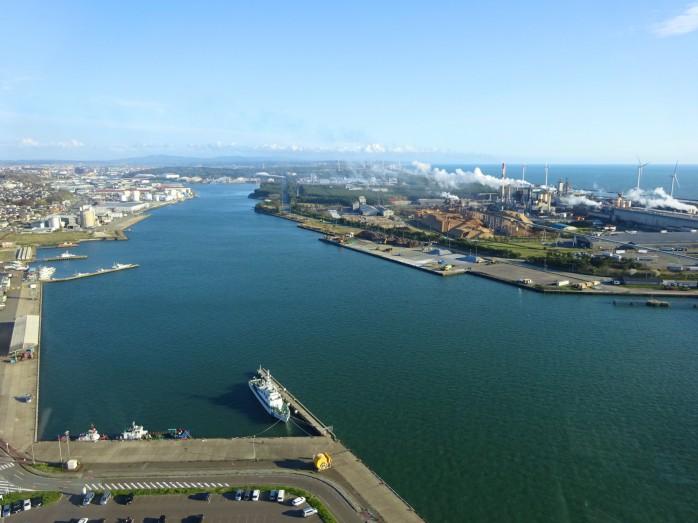 02 ポートタワーセリオンからの眺望(土崎港町地区)