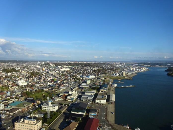 04 ポートタワーセリオンからの眺望(秋田市街)