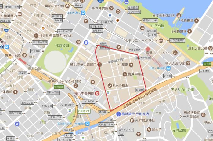 03 横浜中華街(Googleマップ)