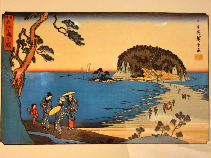 06 歌川広重作_相州江の島の図