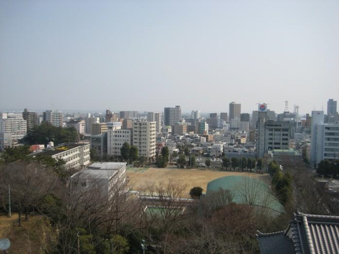 08 浜松城_天守閣からの眺望