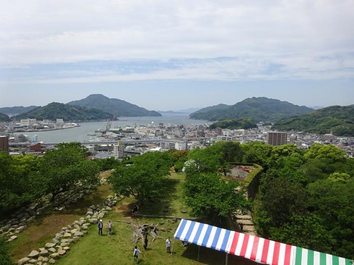 12 宇和島城_天守閣からの眺望