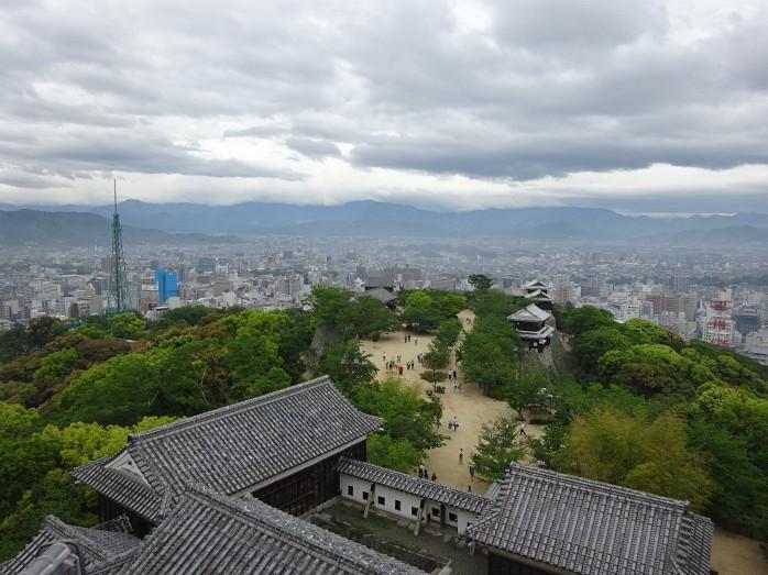 17 松山城天守からの眺望